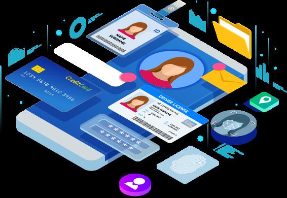 個人情報が含まれるサービスやアカウント