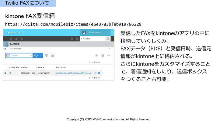 kintone fax