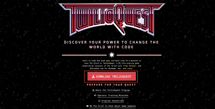 twilio quest3-instaal