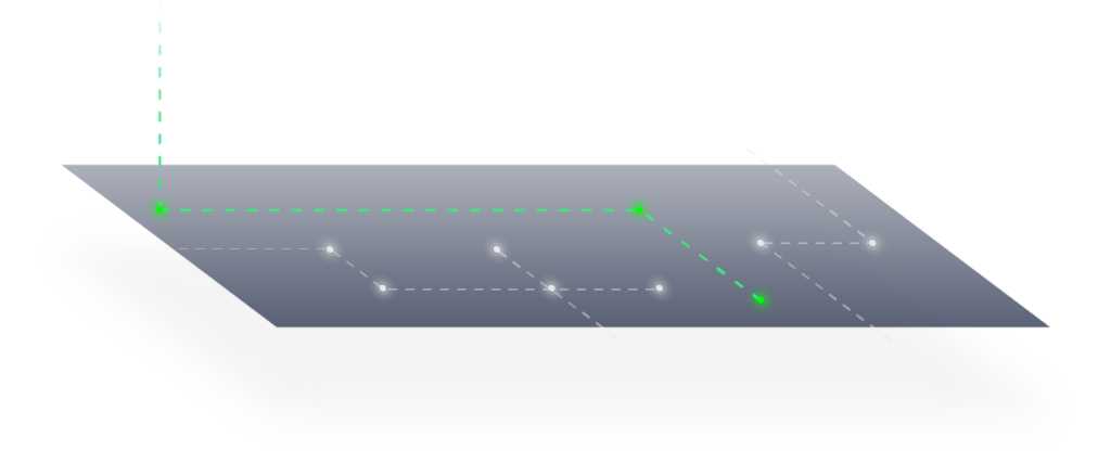 プログラム上からルーティングを制御 PROGRAMMABLE ROUTING